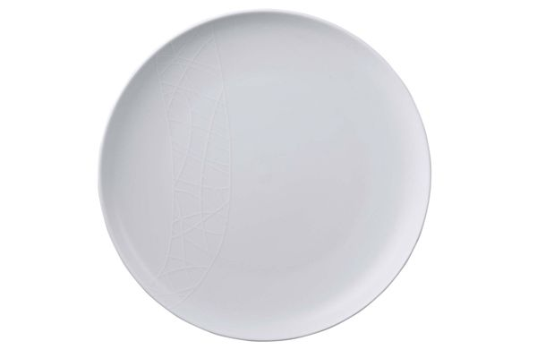 Jamie Oliver for Churchill White on White - Queens Round Platter Well Handy 33cm