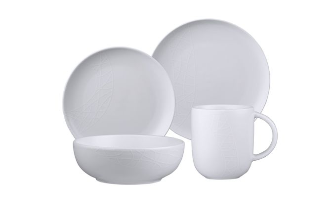 Jamie Oliver for Churchill White on White 16 Piece Set