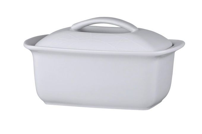Jamie Oliver for Churchill White on White - Queens Butter Dish + Lid
