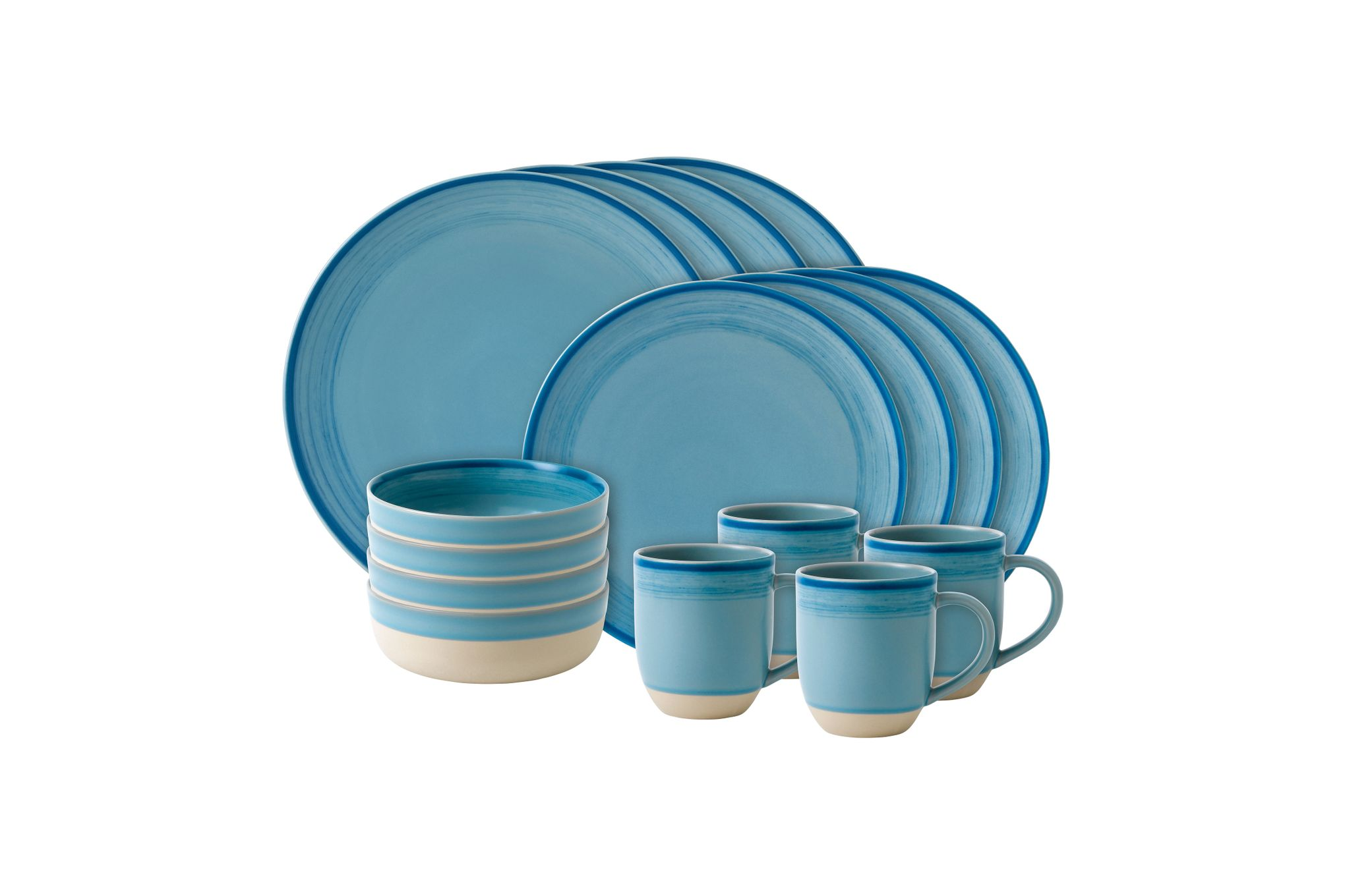 Ellen DeGeneres for Royal Doulton Brushed Glaze Sets 16 Piece Set Polar Blue thumb 1