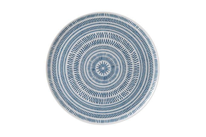 Ellen DeGeneres for Royal Doulton Dark Blue Chevron Round Platter 32cm