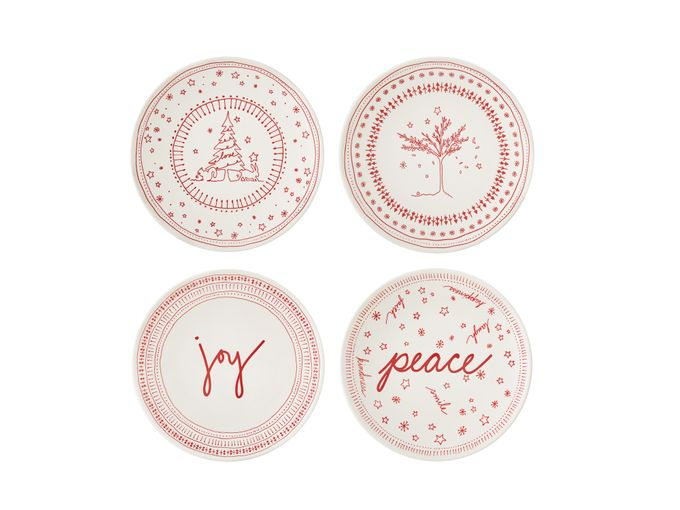 Ellen DeGeneres for Royal Doulton Holiday Set of 4 Plates Mixed Designs 16cm