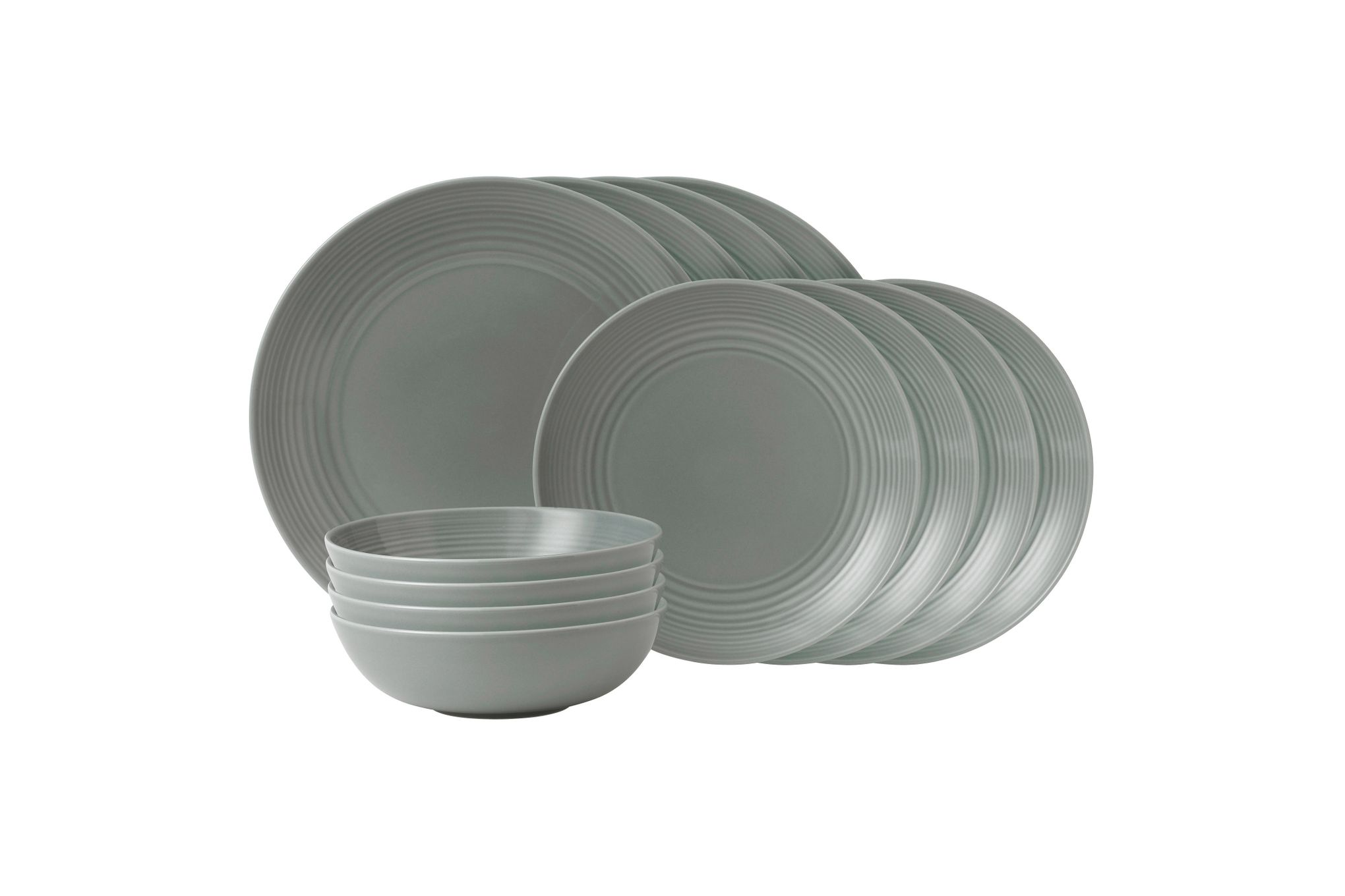 Gordon Ramsay for Royal Doulton Maze Dark Grey 12 Piece Set 4 x Plate 28cm, Plate 22cm, Bowl 18cm thumb 1