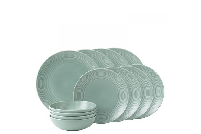 Gordon Ramsay for Royal Doulton Maze Teal 12 Piece Set 4 x Plate 28cm, Plate 22cm, Bowl 18cm