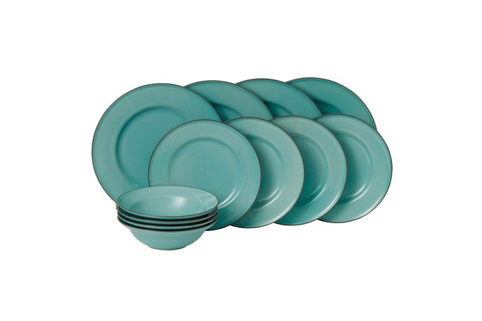 Gordon Ramsay for Royal Doulton Union Street Blue 12 Piece Set Boxed Set - 4 x Plate 27cm, Plate 22cm, Bowl 18cm
