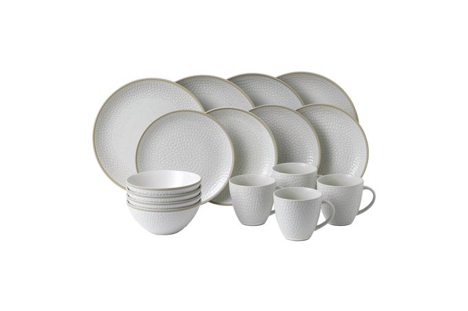 Gordon Ramsay for Royal Doulton Maze Grill 16 Piece Set Hammer White
