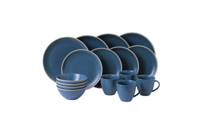 Gordon Ramsay for Royal Doulton Maze Grill 16 Piece Set Hammer Blue