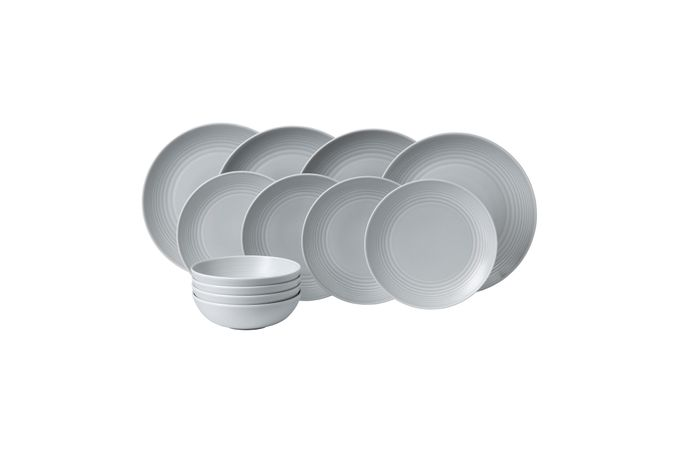 Gordon Ramsay for Royal Doulton Maze Light Grey 12 Piece Set