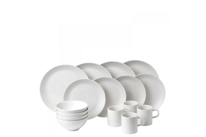 HemingwayDesign for Royal Doulton Knotted White 16 Piece Set