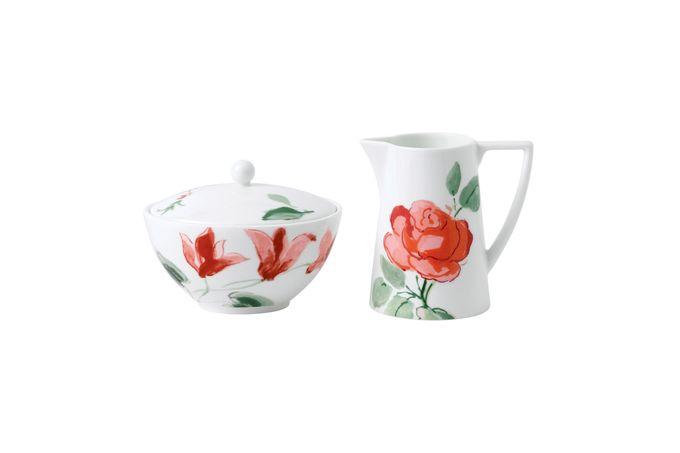 Jasper Conran for Wedgwood Floral Sugar Bowl - Lidded (Tea) Sugar Bowl Only