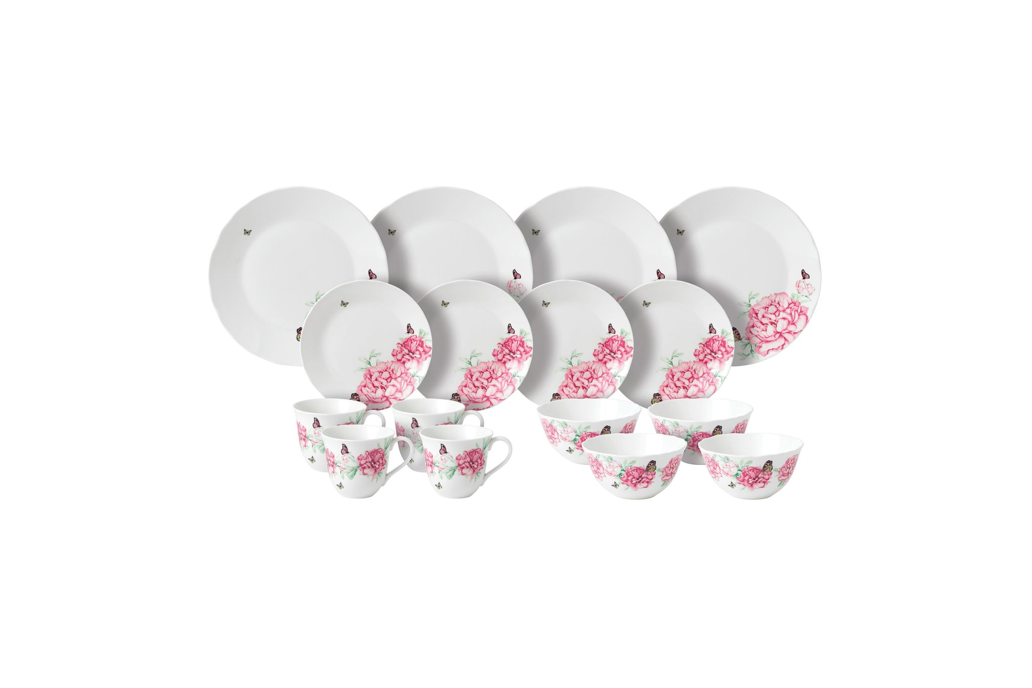 Miranda Kerr for Royal Albert Everyday Friendship 16 Piece Set White - 4 x Plate 27cm, Plate 20cm, Cereal Bowl, Mug thumb 1