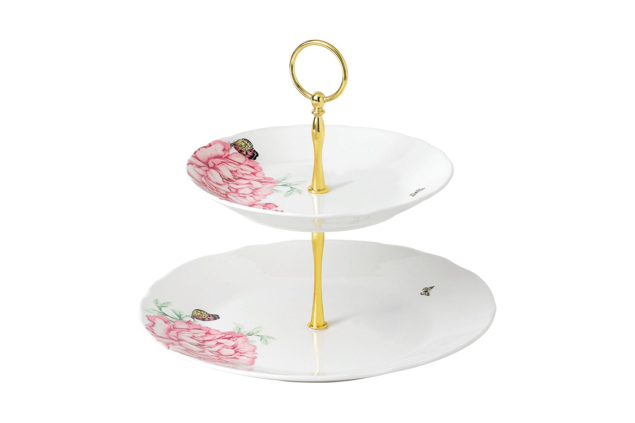 Miranda Kerr for Royal Albert Everyday Friendship 2 Tier Cake Stand 27cm/20cm White thumb 1