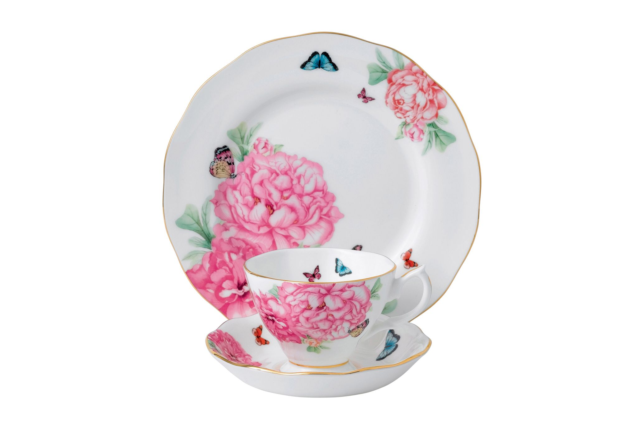 Miranda Kerr for Royal Albert Friendship 3 Piece Set Teacup, Saucer, Plate 20cm Friendship thumb 1