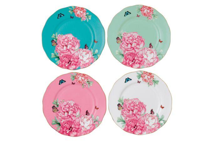 Miranda Kerr for Royal Albert Friendship Set of Side Plates Set of 4 Accent Plates 20cm