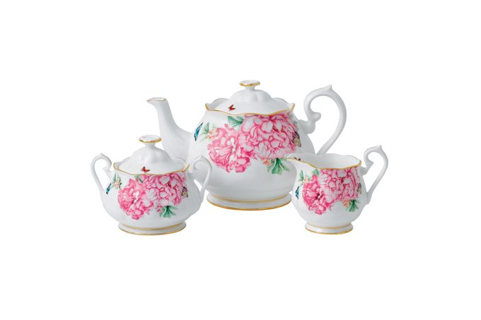 Miranda Kerr for Royal Albert Friendship 3 Piece Tea set Teapot, Sugar and Cream