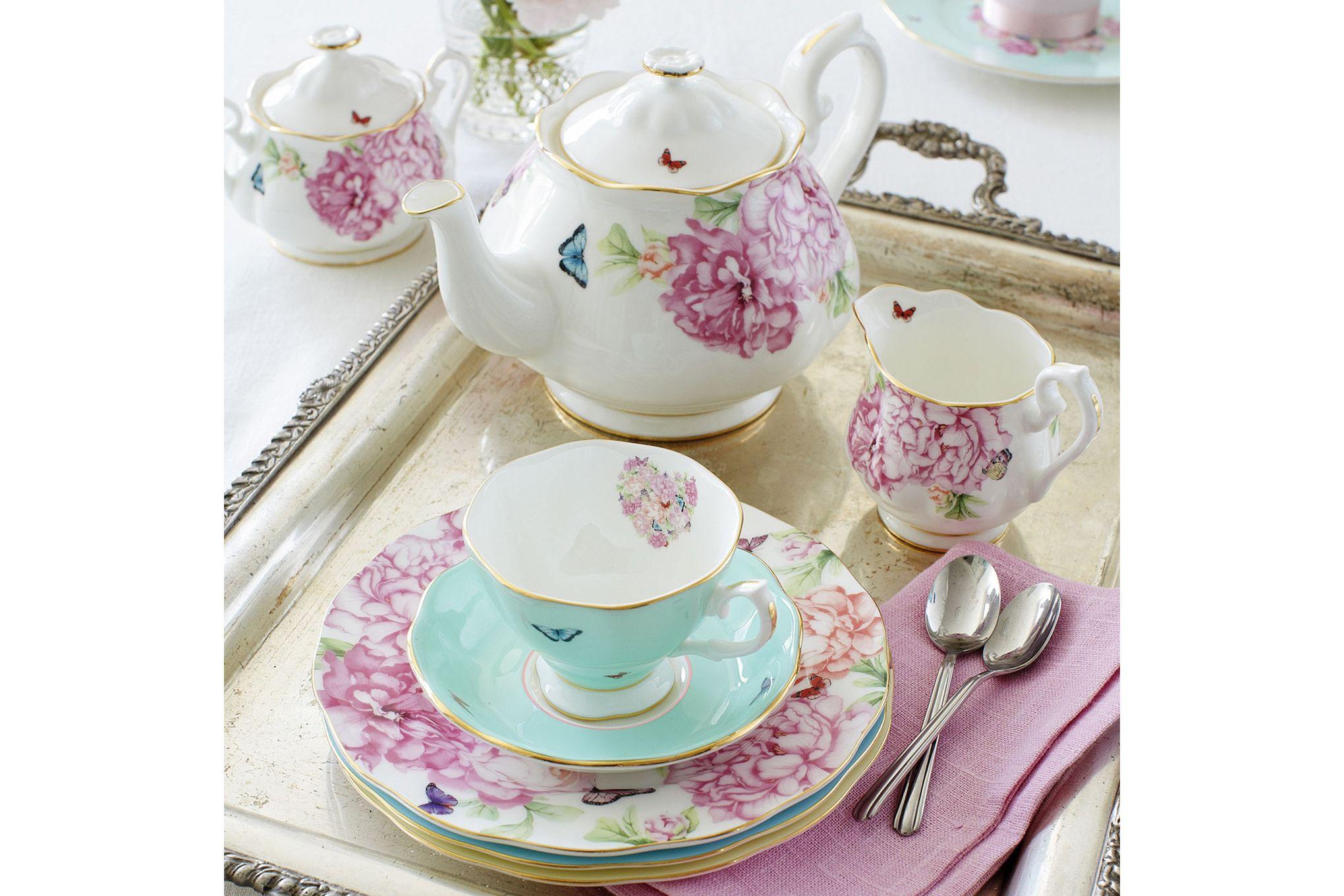 Miranda Kerr for Royal Albert Friendship 3 Piece Tea set Teapot, Sugar and Cream thumb 4
