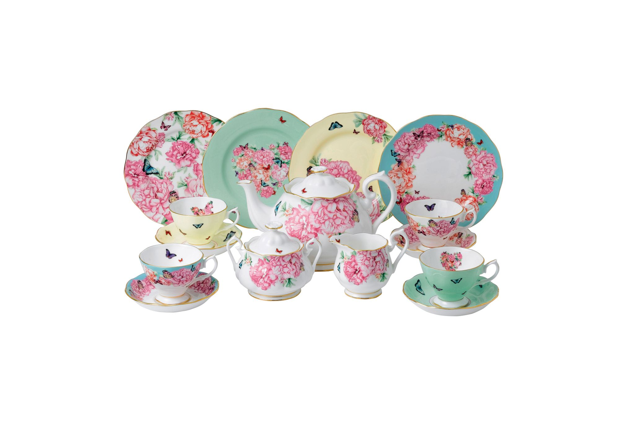 Miranda Kerr for Royal Albert Gift Sets 15 Piece Set Teacup, Saucer, Plate 20cm, Teapot, Sugar, Cream thumb 1