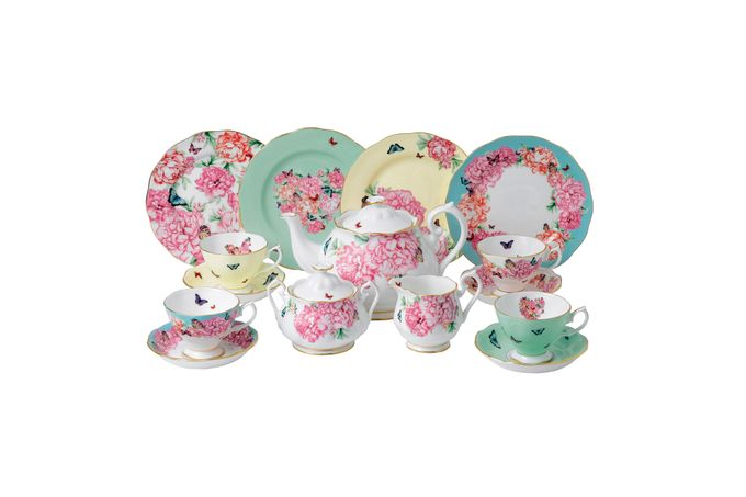 Miranda Kerr for Royal Albert Gift Sets 15 Piece Set Teacup, Saucer, Plate 20cm, Teapot, Sugar, Cream