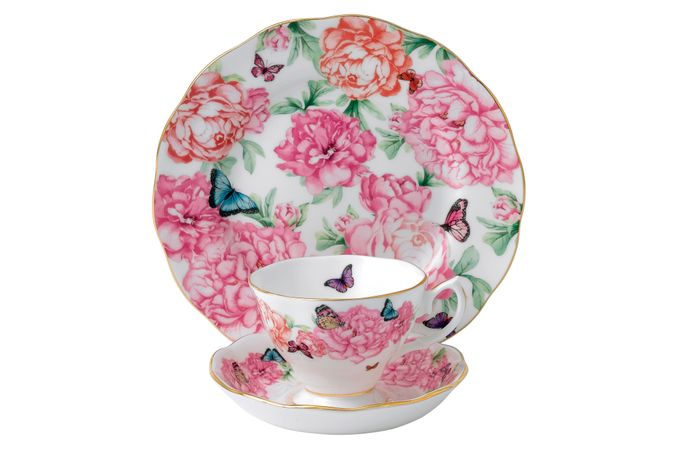 Miranda Kerr for Royal Albert Gratitude 3 Piece Set Teacup, Saucer, Plate 20cm Gratitude