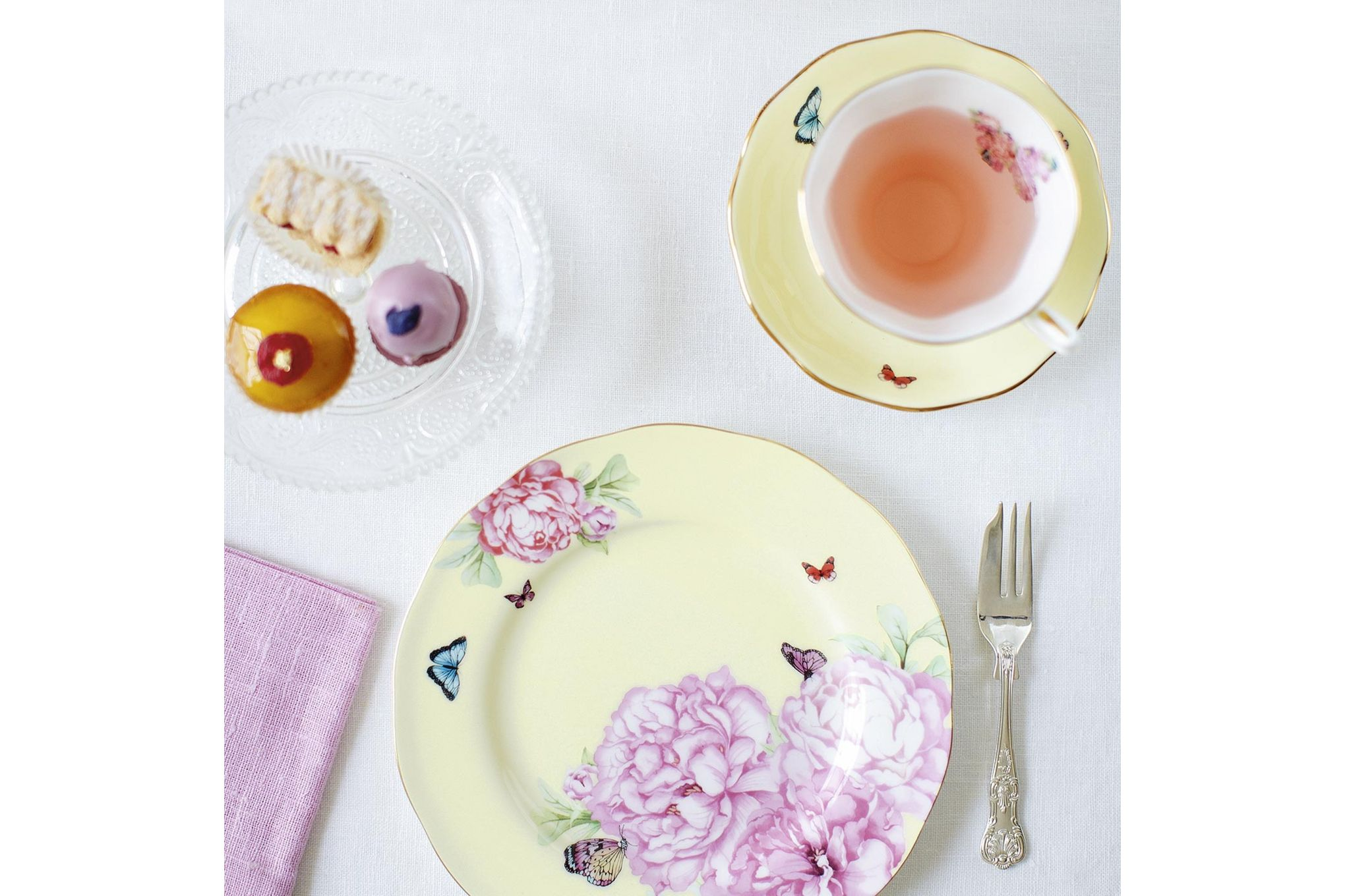 Miranda Kerr for Royal Albert Joy 3 Piece Set Teacup, Saucer, Plate 20cm Joy thumb 3