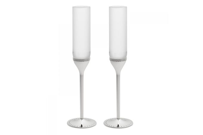 Vera Wang for Wedgwood Gifts & Accessories Toasting Flute Pair Grosgrain