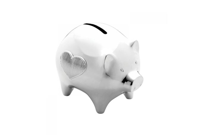 Vera Wang for Wedgwood Gifts & Accessories Piggy Bank Silverware