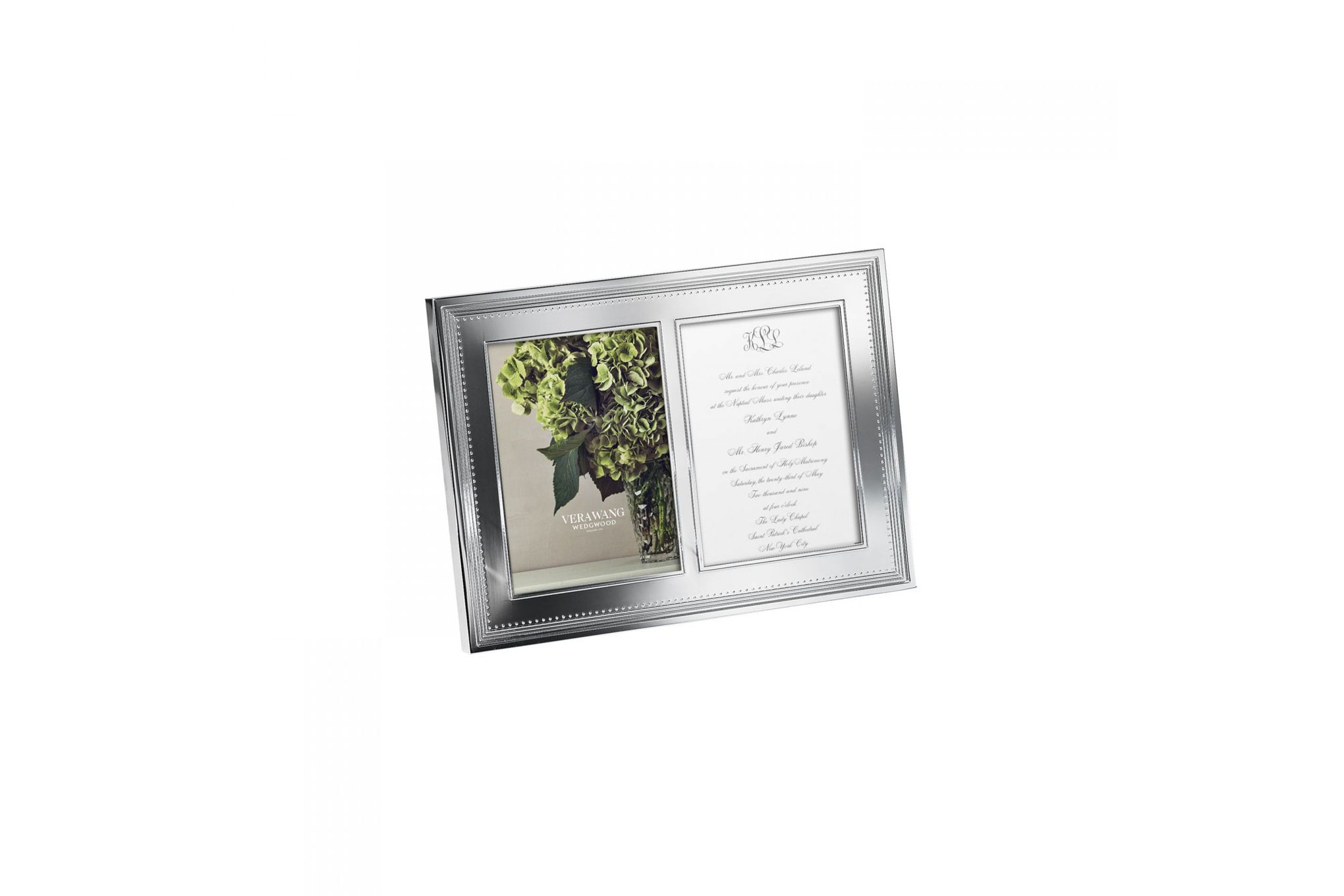 """Vera Wang for Wedgwood Gifts & Accessories Double Invitation Frame Grosgrain 5 x 7"""" thumb 1"""