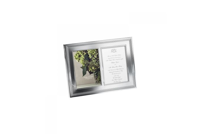 """Vera Wang for Wedgwood Gifts & Accessories Double Invitation Frame Grosgrain 5 x 7"""""""
