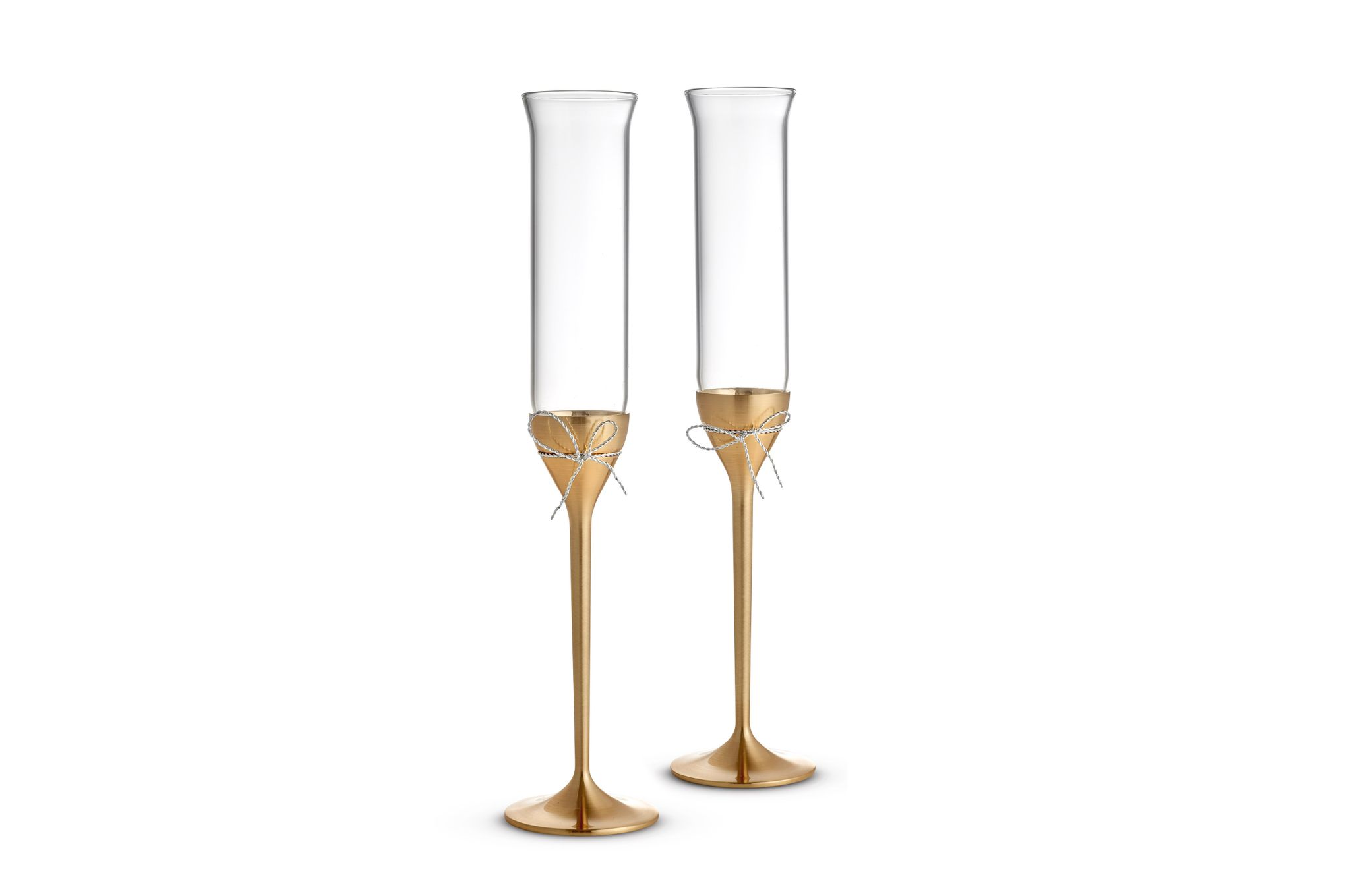 Vera Wang for Wedgwood Gifts & Accessories Toasting Flute Pair Love Knots Gold thumb 1