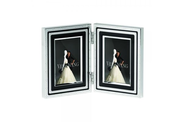 """Vera Wang for Wedgwood Gifts & Accessories Folding Frame With Love Noir 2 x 3"""""""