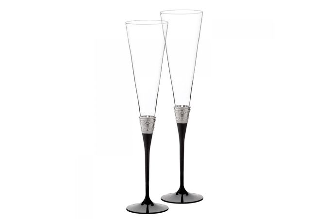 Vera Wang for Wedgwood Gifts & Accessories Toasting Flute Pair With Love Noir
