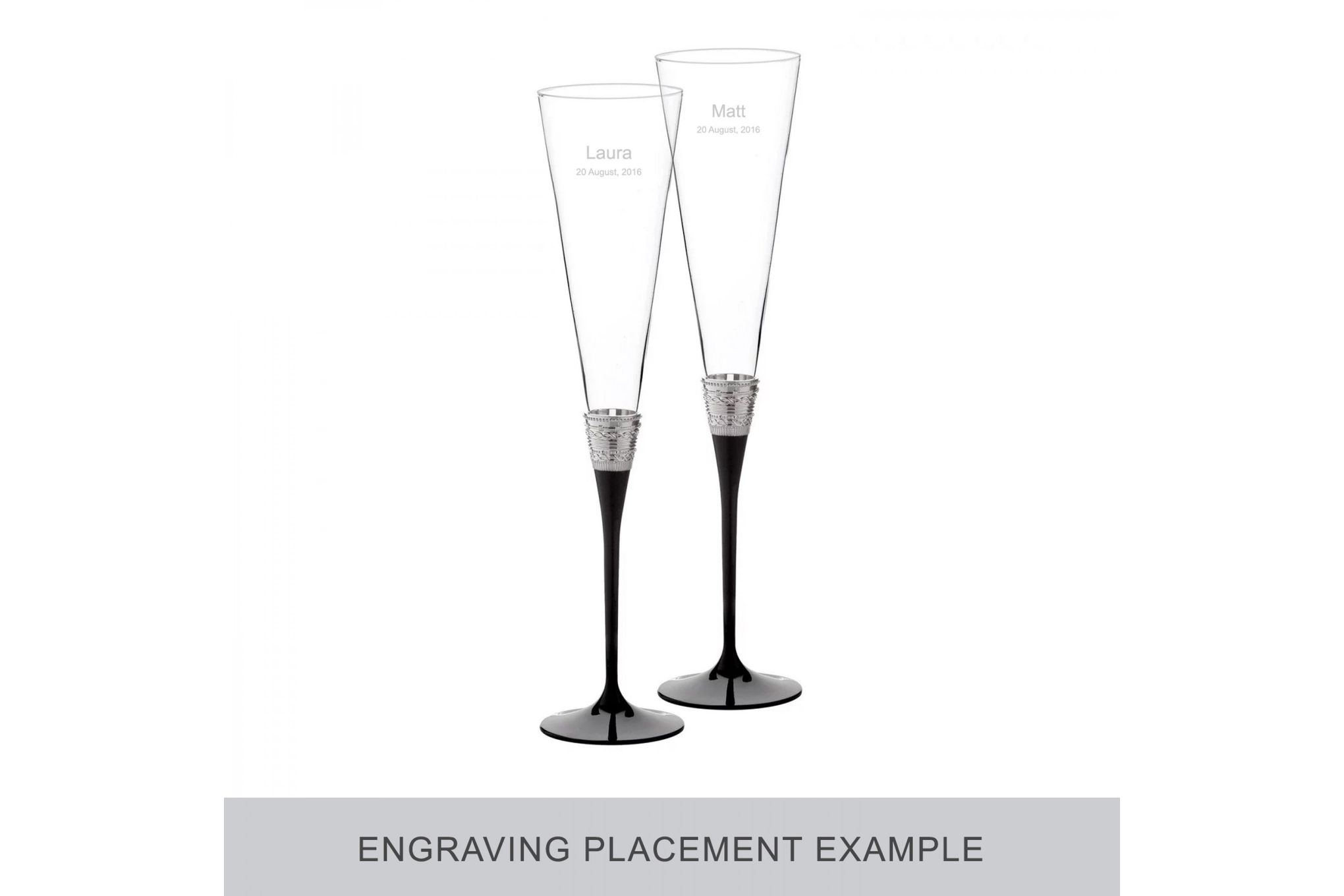 Vera Wang for Wedgwood Gifts & Accessories Toasting Flute Pair With Love Noir thumb 2