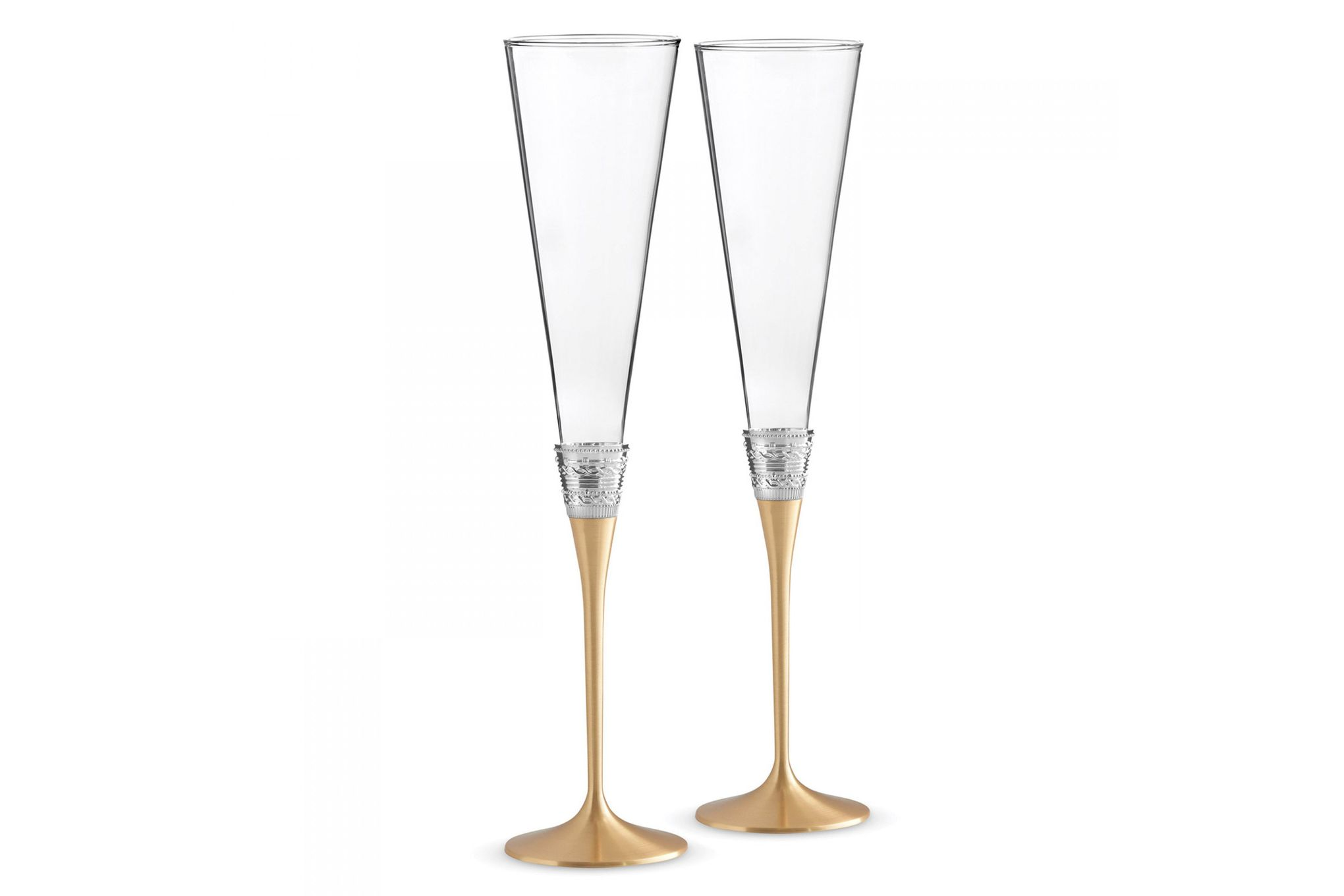 Vera Wang for Wedgwood Gifts & Accessories Toasting Flute Pair With Love Gold thumb 1