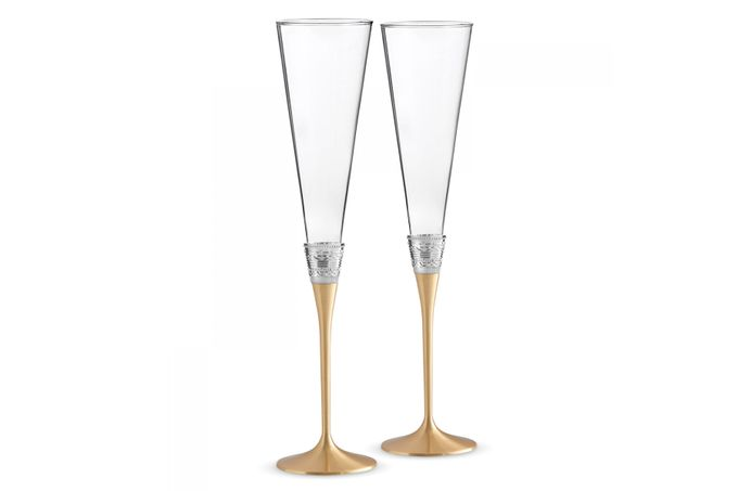 Vera Wang for Wedgwood Gifts & Accessories Toasting Flute Pair With Love Gold