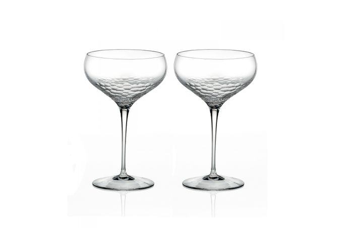 Vera Wang for Wedgwood Sequin Pair of Champagne Saucers