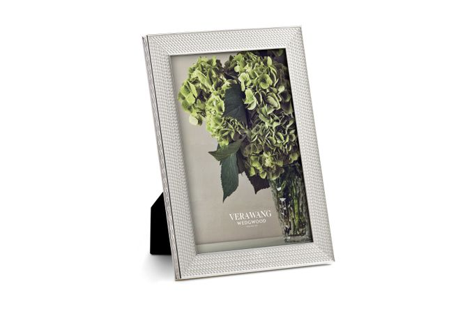 """Vera Wang for Wedgwood With Love Nouveau Photo Frame Silver 4 x 6"""""""