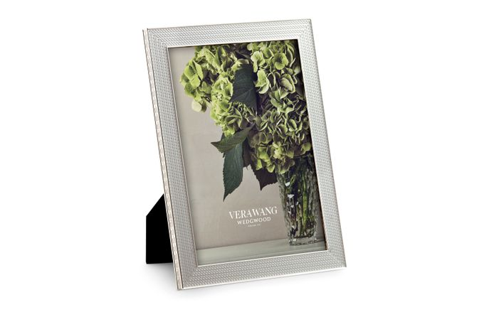 """Vera Wang for Wedgwood With Love Nouveau Photo Frame Silver 5 x 7"""""""