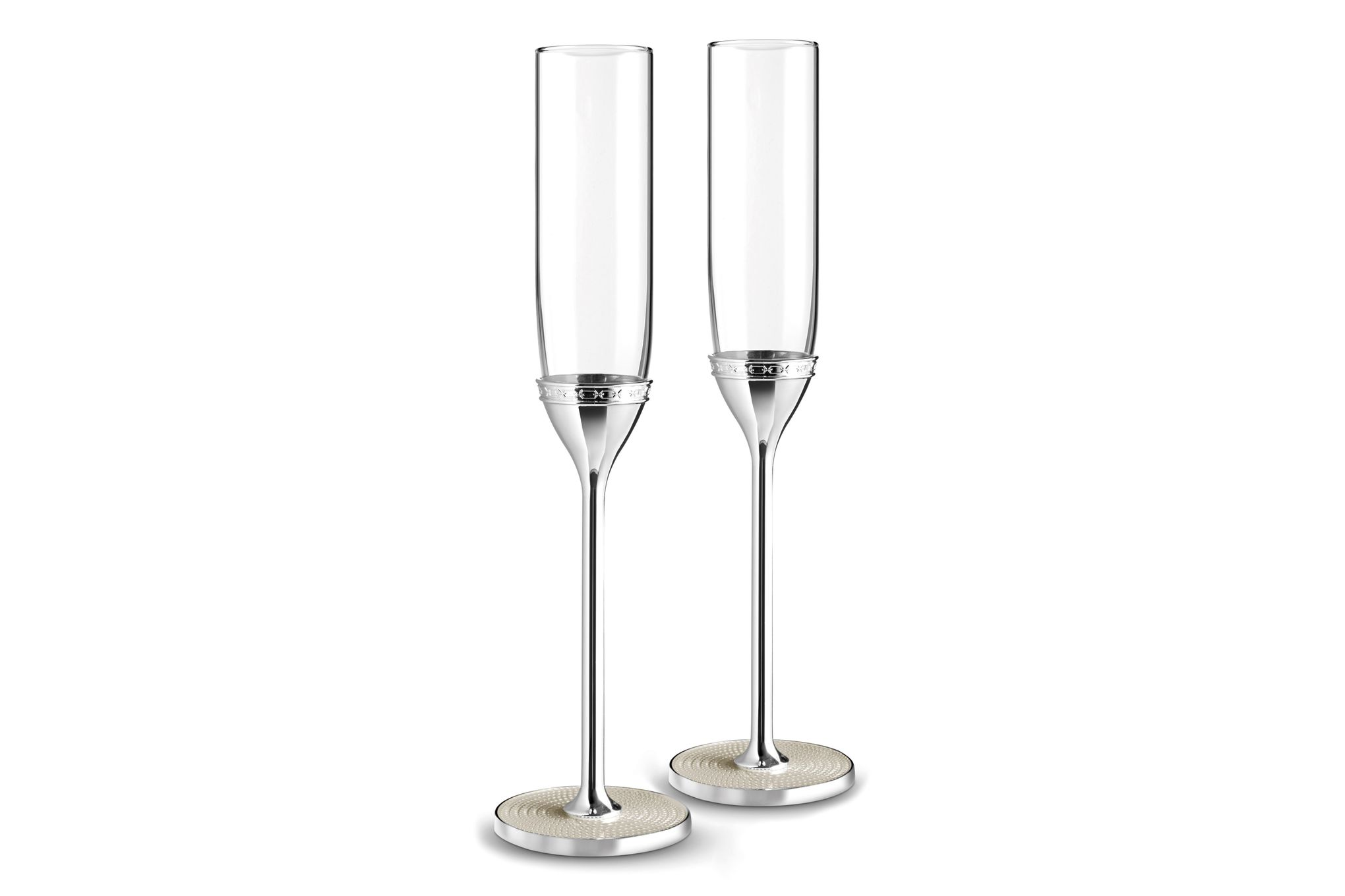 Vera Wang for Wedgwood With Love Nouveau Toasting Flute Pair Pearl thumb 1