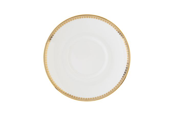 Vera Wang for Wedgwood Lace Gold Coffee Saucer Bond, Saucer Only 4 3/4""