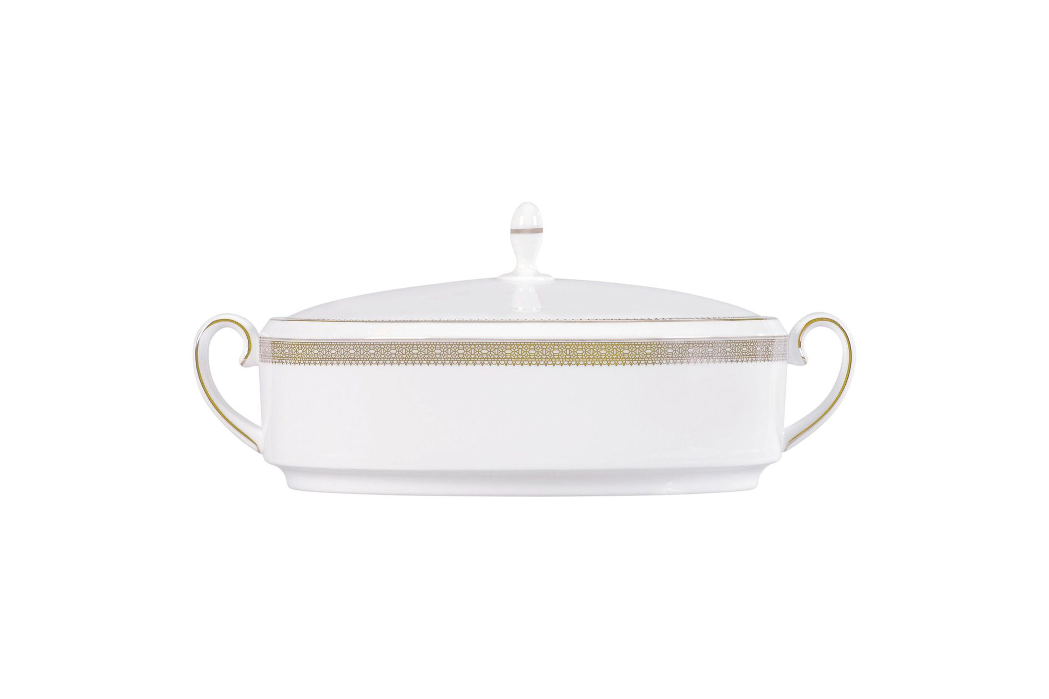 Vera Wang for Wedgwood Lace Gold Vegetable Tureen with Lid thumb 1