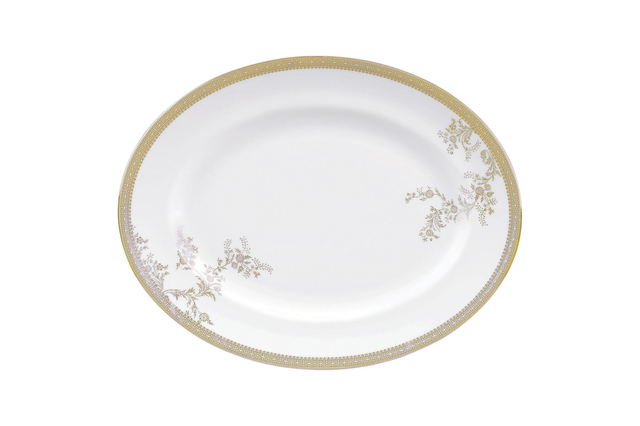 Vera Wang for Wedgwood Lace Gold Oval Plate / Platter 35cm thumb 1