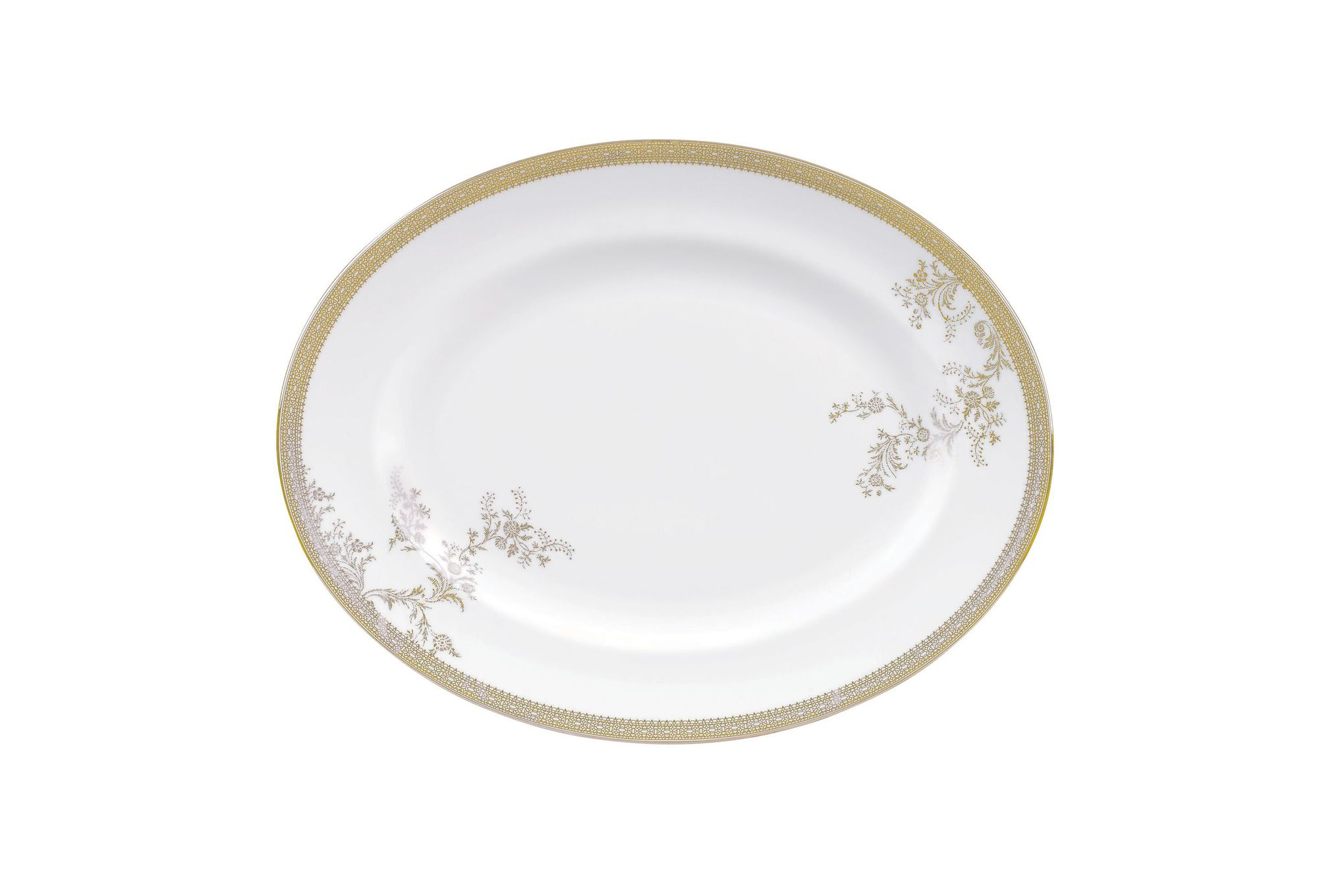 Vera Wang for Wedgwood Lace Gold Oval Plate / Platter 39cm thumb 1