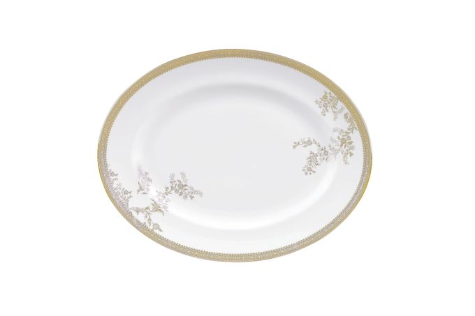 Vera Wang for Wedgwood Lace Gold Oval Plate / Platter 39cm