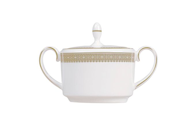 Vera Wang for Wedgwood Lace Gold Sugar Bowl - Lidded (Tea)