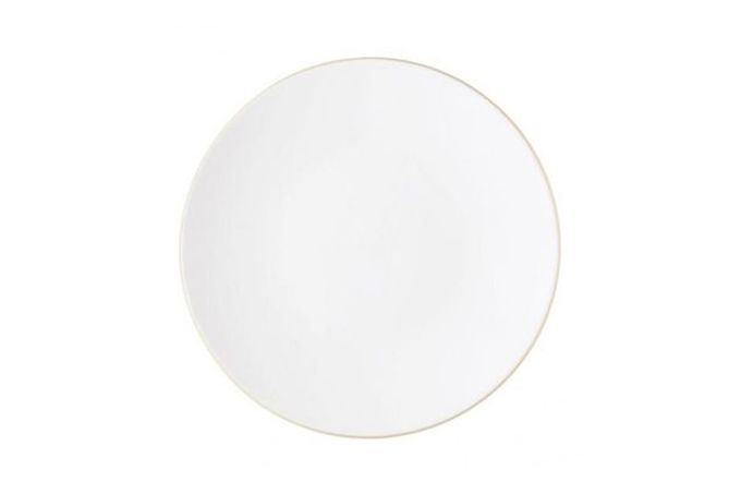 """Vera Wang for Wedgwood Naturals Breakfast / Lunch Plate Chalk 9"""""""