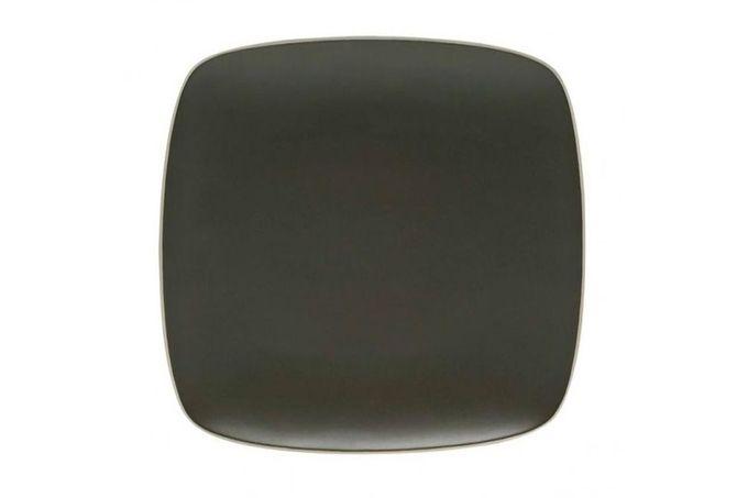 "Vera Wang for Wedgwood Naturals Square Platter Graphite 12"""