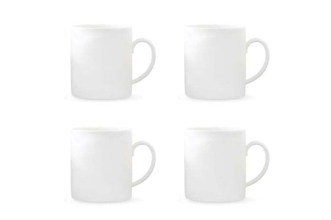 Vera Wang for Wedgwood Perfect White Mug - Set of 4 9 x 10cm