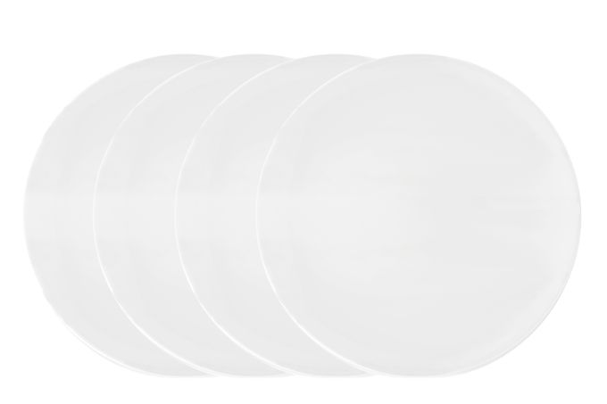 Vera Wang for Wedgwood Perfect White Dinner Plates - Set of 4 27cm