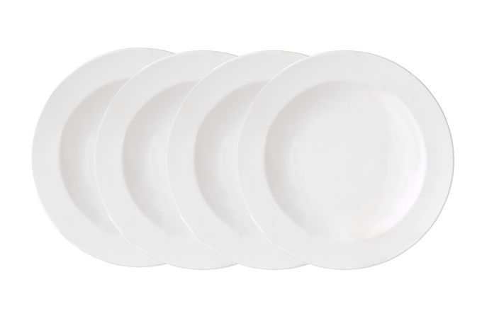 Vera Wang for Wedgwood Perfect White Rimmed Bowls - Set of 4 22cm