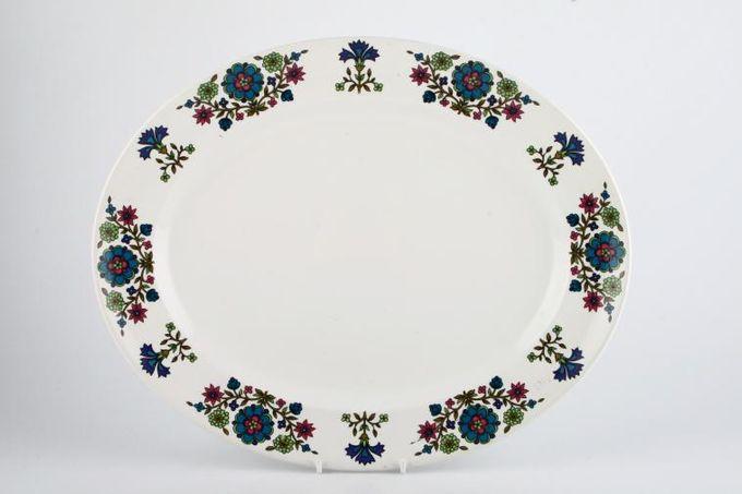 "Midwinter Country Garden Oval Plate / Platter Rimmed 13 3/4"""